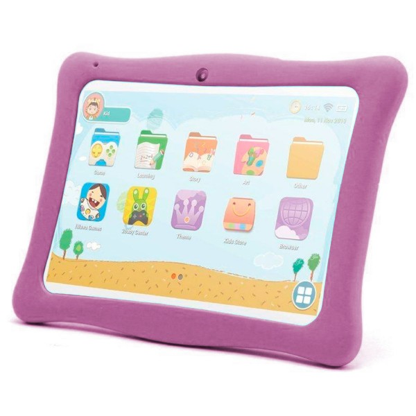 Innjoo kids tab blanca tablet wifi 10'' ips protector rosa tft quadcore 16gb 1gb ram cam 2mp selfies 0.3mp