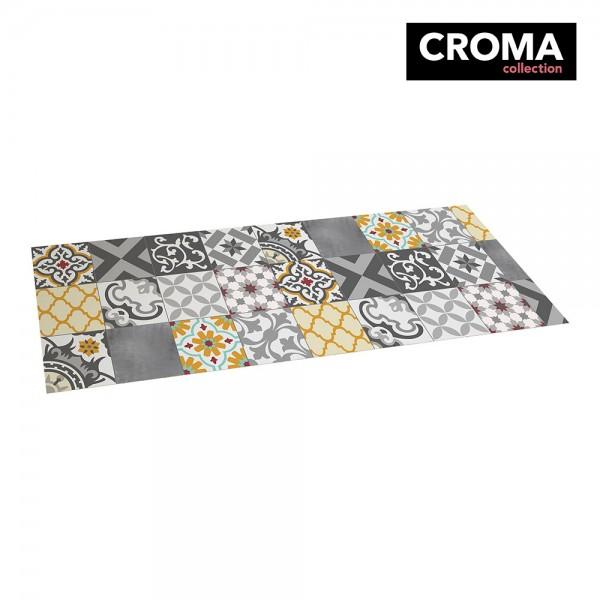 Alfombra vinilica croma patch gris-ambar 50x140cm