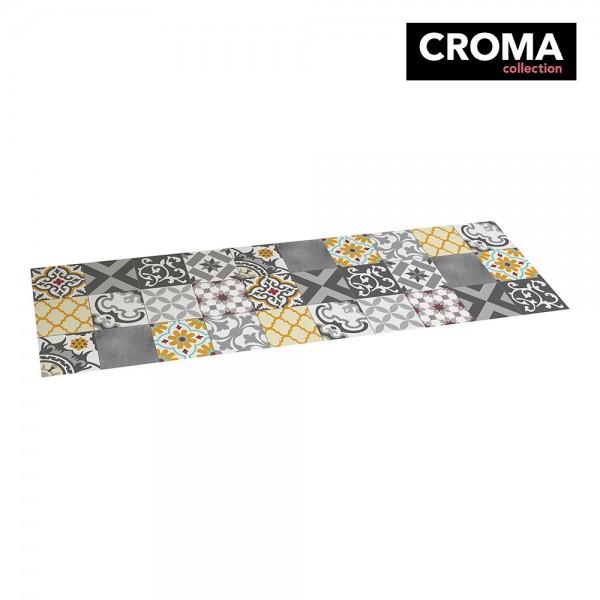 Alfombra vinilica croma patch gris-ambar 60x200cm